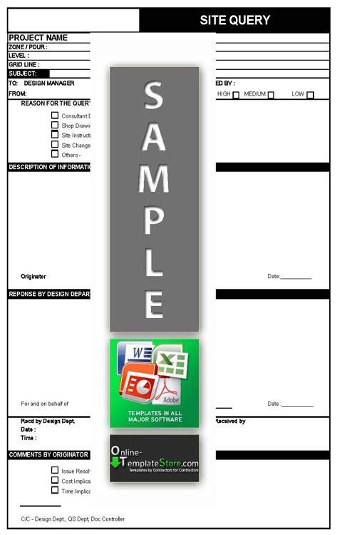 format file label project management forms construction templates