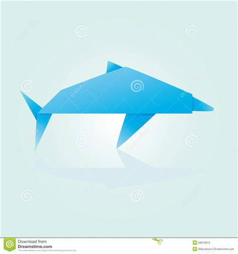 How To Make Origami Dolphin - origami dolphin stock photos image 28613913