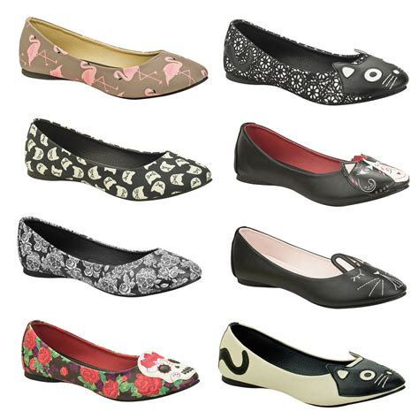 rockabilly flat shoes tuk womens unique rockabilly pinup retro character