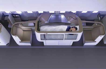Tempat Tidur Nyaman tempat tidur nyaman pesawat masa depan