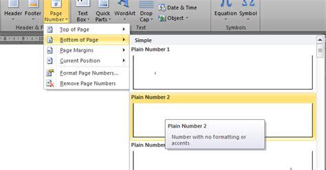 cara membuat nomor halaman di word windows 7 nurhamim s blog cara mengatur nomor halaman dengan format