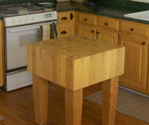 Chopping Table Kitchen Butcher Block