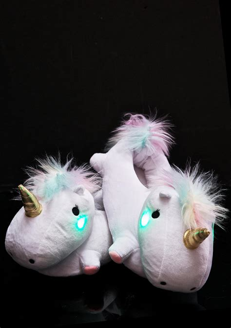 light up unicorn slippers unicorn slippers dolls kill