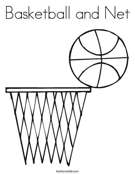 How To Make A Basketball Net Out Of Paper - basketball and net coloring page twisty noodle