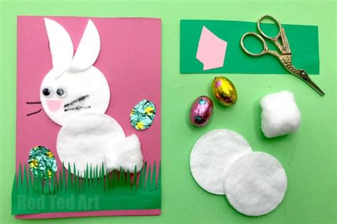 cards for preschoolers to make cotton wool bunny card for preschool ted s