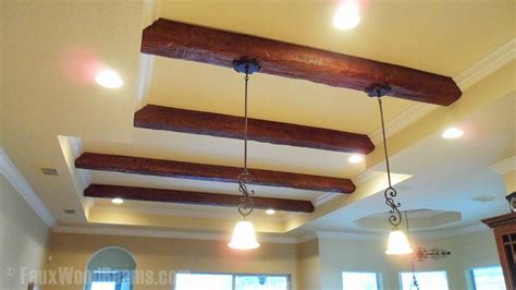 diy kitchen makeovers with beams faux wood workshop