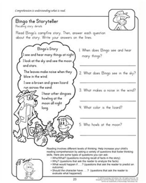 Reading amp comprehension worksheets for 2nd grade jumpstart