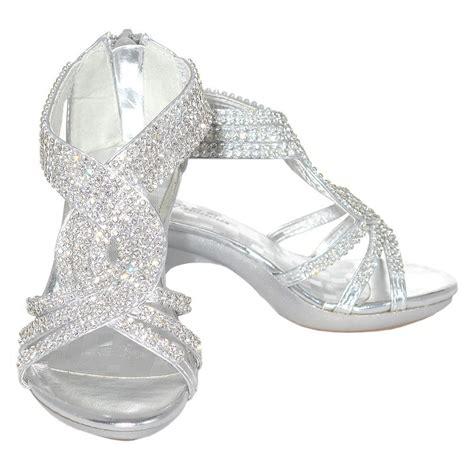 toddler silver dress shoes fabulous silver rhinestone band dress shoe toddler 9