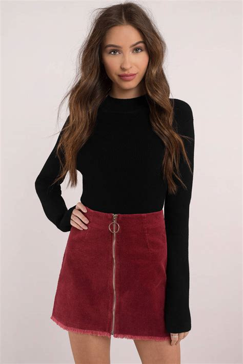 skirts tight pencil skirt black mini skirt corduroy tobi