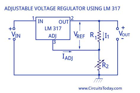 voltage regulator with variable resistor ic voltage regulators with circuit diagram design theory