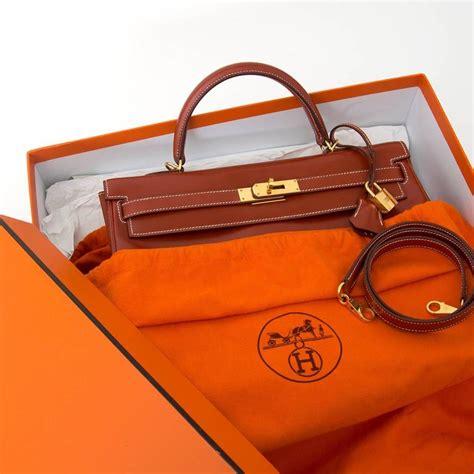 Hermes Contansce Box Semi Premium herm 232 s brique box calf 35 ghw at 1stdibs