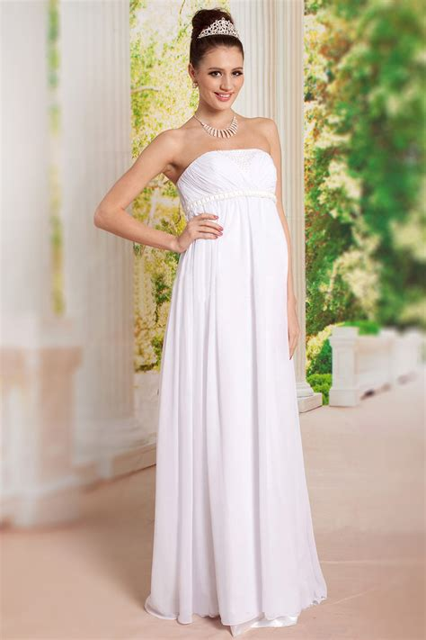 Robe Blanche Simple Pour Mariage - robe grossesse pour mariage ou soir 233 e blanche 224 bustier
