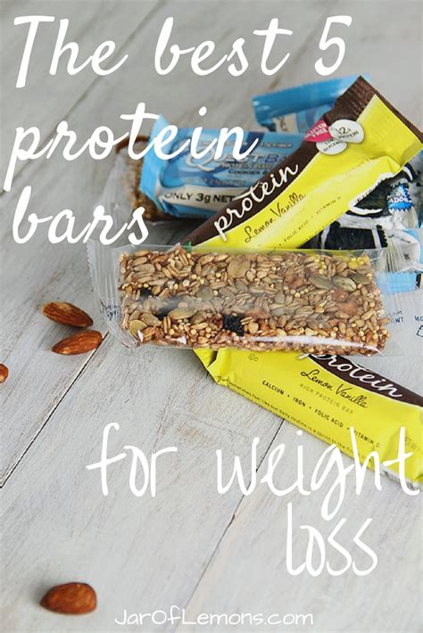 top 5 protein bars the best 5 protein bars for weight loss jar of lemons