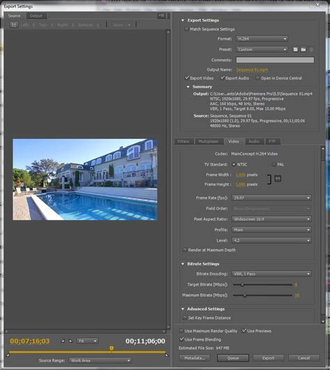 adobe premiere pro export settings need to speed up my encoding adobe premiere pro