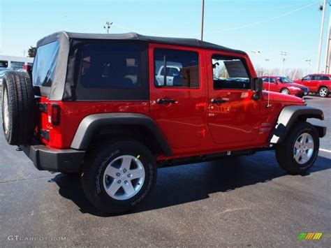 flame red jeep 2012 flame red jeep wrangler unlimited sport s 4x4
