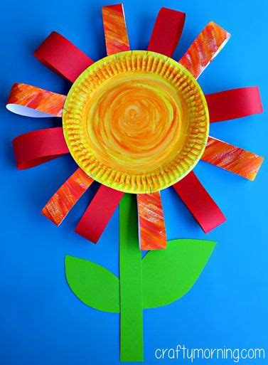 Paper Plate Flower Craft - paper plate flower craft for paper flowers for