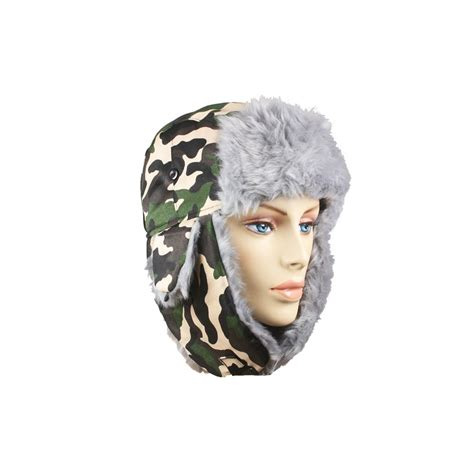 Winter Pilot Hat 36 units of winter army pilot hat with faux fur lining and
