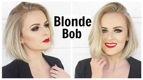 blonde bob youtube all about my hair blonde bob youtube