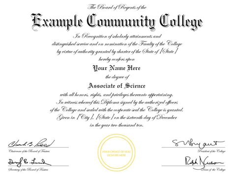 college degree certificate templates