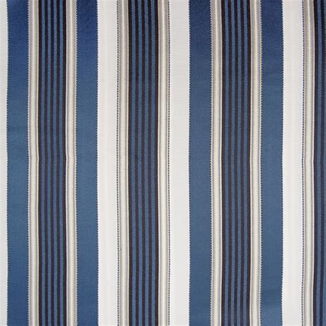 Striped Upholstery Fabrics by Province Blue Stripe Woven Upholstery Fabric