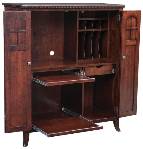 maxton amish made computer armoire countryside amish