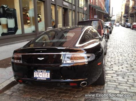 Aston Martin New York by Aston Martin Rapide Spotted In New York New York On 02 22