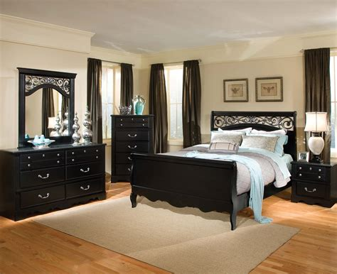 furniture set bedroom standard furniture madera 5 piece sleigh bedroom set in black beyond stores