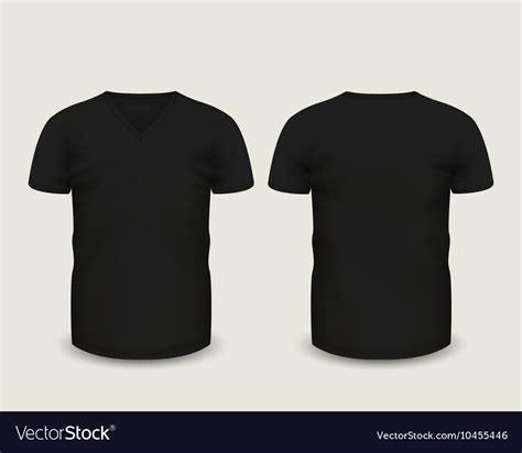 Black V black v neck shirts template royalty free vector image