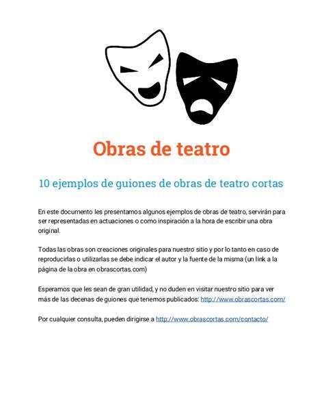 guiones teatrales de comedia para 6 personajes 10 guiones de obras de teatro cortas ejemplos gratis