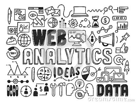 how to make a doodle your homepage web analytics doodle elements stock image image 34326331