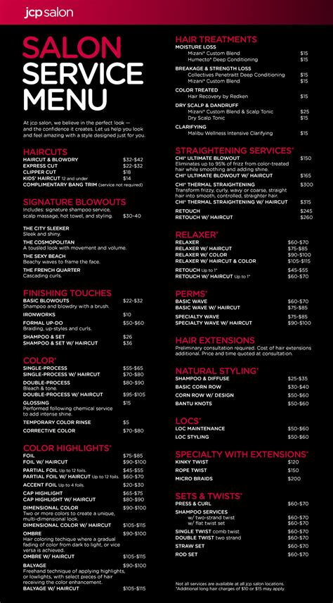 jcp hair salon price list hair salons near me newhairstylesformen2014 com