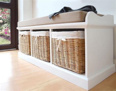 storage basket bench storage bench with baskets elegant furniture design