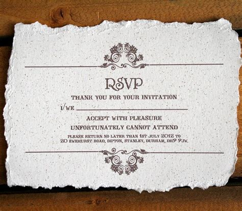 Wedding Invitation With Rsvp by Vintage Style Wedding Invitation By Solographic