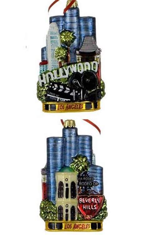 los angeles personalized ornament