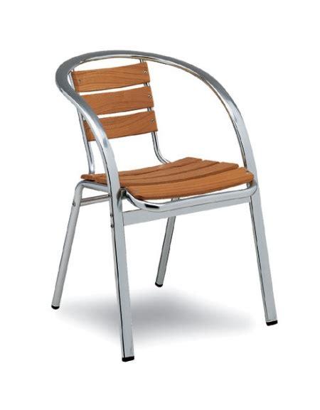 sedie alluminio sedia rialto alluminio e legno teak allumino e legno