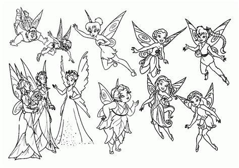 pages of tinkerbell friends coloring pages coloring home