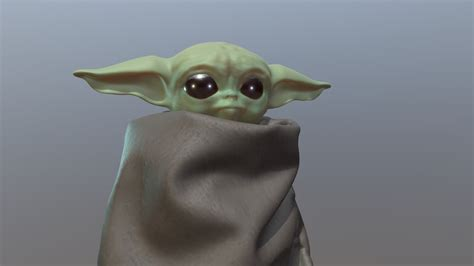 baby yoda    model  lukas hahn graphics