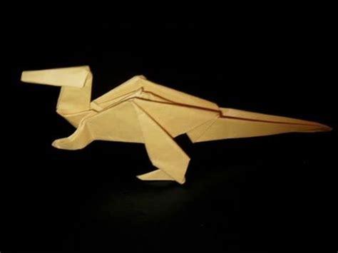 Origami Flying Dinosaur - recycled can origami handmade jurassic dinosaur t rex