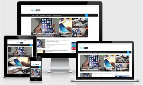 blogspot themes tech tech news responsive technology blogger template the