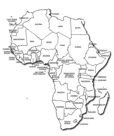 printable map africa countries printable map of africa with countries labeled africa map