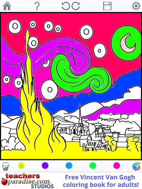 best coloring book app for adults app shopper gogh paintings coloring book for adults