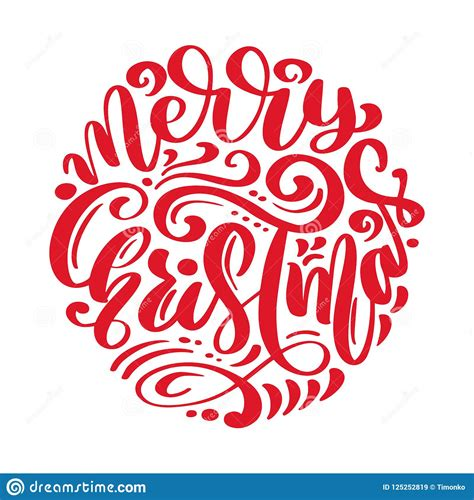merry christmas vector text calligraphic lettering design card template creative typography
