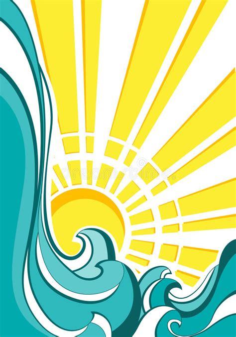 clipart acqua onde mare illustrazione di vettore illustrazione