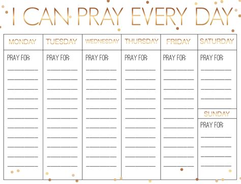 Free New Year S Weekly Prayer Calendar Children S Ministry Deals Prayer Schedule Template