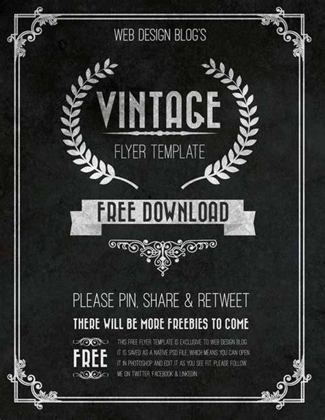 chalkboard poster template the free vintage chalkboard flyer psd template
