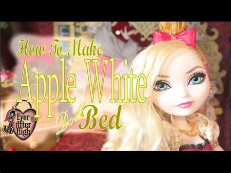 how to make your bed higher how to make a bed for your apple white doll ever after high my crafts and diy projects