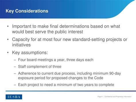 considerations for a new definition ppt iesba strategy and work plan powerpoint presentation