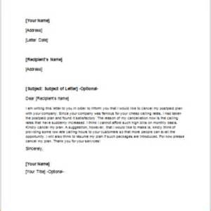 Purchase Contract Cancellation Letter Formal Official And Professional Letter Templates Part 7