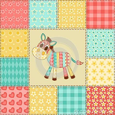 Zebra Patchwork Quilt - zebra patchwork pattern royalty free stock photography