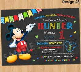 mickey mouse clubhouse 1st birthday invitations cloveranddot